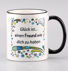 """Tasse """"Glück ist... Freund"""""""