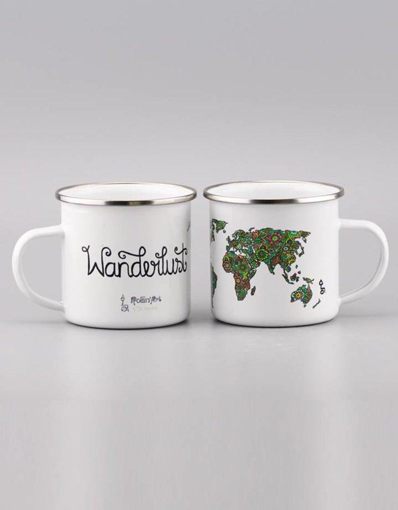 "Enamel Mug  ""Wanderlust"""