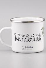 """Emaille Tasse """"Wanderlust"""""""