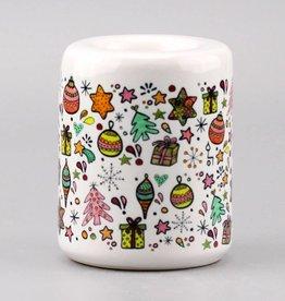 Teelichthalter groß Altrosa Greenery