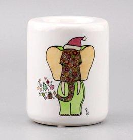 Teelichthalter groß Fant Altrosa Greenery
