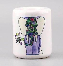 Teelichthalter groß Fant Lila Grün