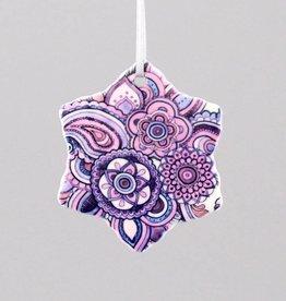 Keramikschneeflocke Mehndi lila