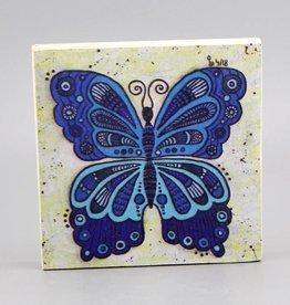 """Holzdruck S """"Schmetterling blau"""""""