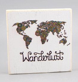 "Printing on wood S ""Wanderlust"""