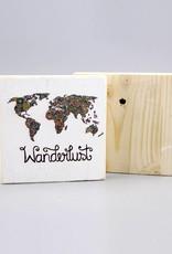 "Printing on wood S ""Wanderlust"""
