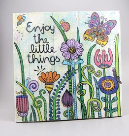 "Printing on wood M ""Enjoy the little things 2.0"""