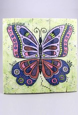 "Printing on wood M ""Butterfly be yourself"""