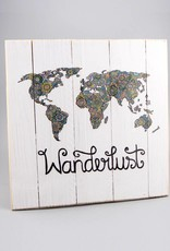 "Printing on wood M ""Wanderlust"""