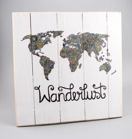 "Printing on wood M ""Wanderlust"""
