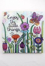 "Printing on wood L ""Enjoy the little things 2.0"""