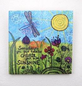"Holzdruck L ""Sunshine"""