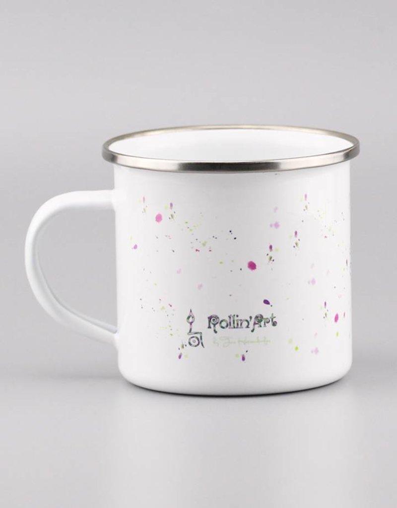 "Enamel Mug  ""Aquarelle Purple"""