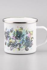 "Enamel Mug  ""Aquarelle Turquoise"""