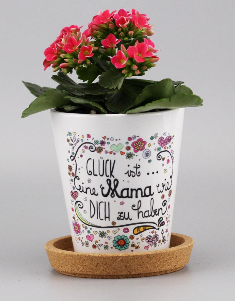 """Flowerpot """"Glück ist... Mama"""""""
