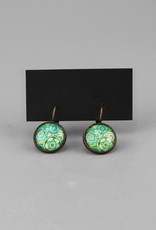 "Hanging earrings  ""Mehndi Muster grün"""