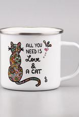 "Enamel Mug  big ""All you need is... cat"""