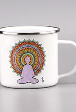 """Emaille Tasse groß """"Buddha"""""""