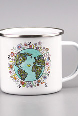 "Emaille Tasse groß ""No Planet B"""