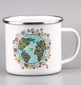 "Enamel Mug  big ""No Planet B"""