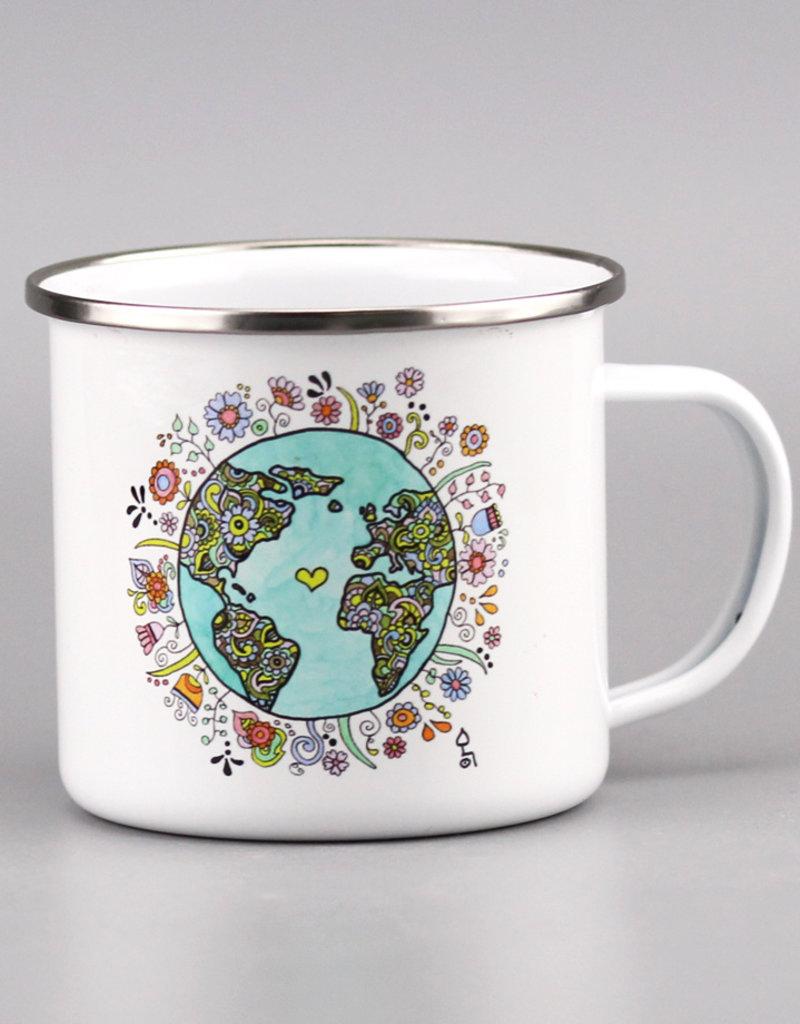 """Enamel Mug  big """"No Planet B"""""""