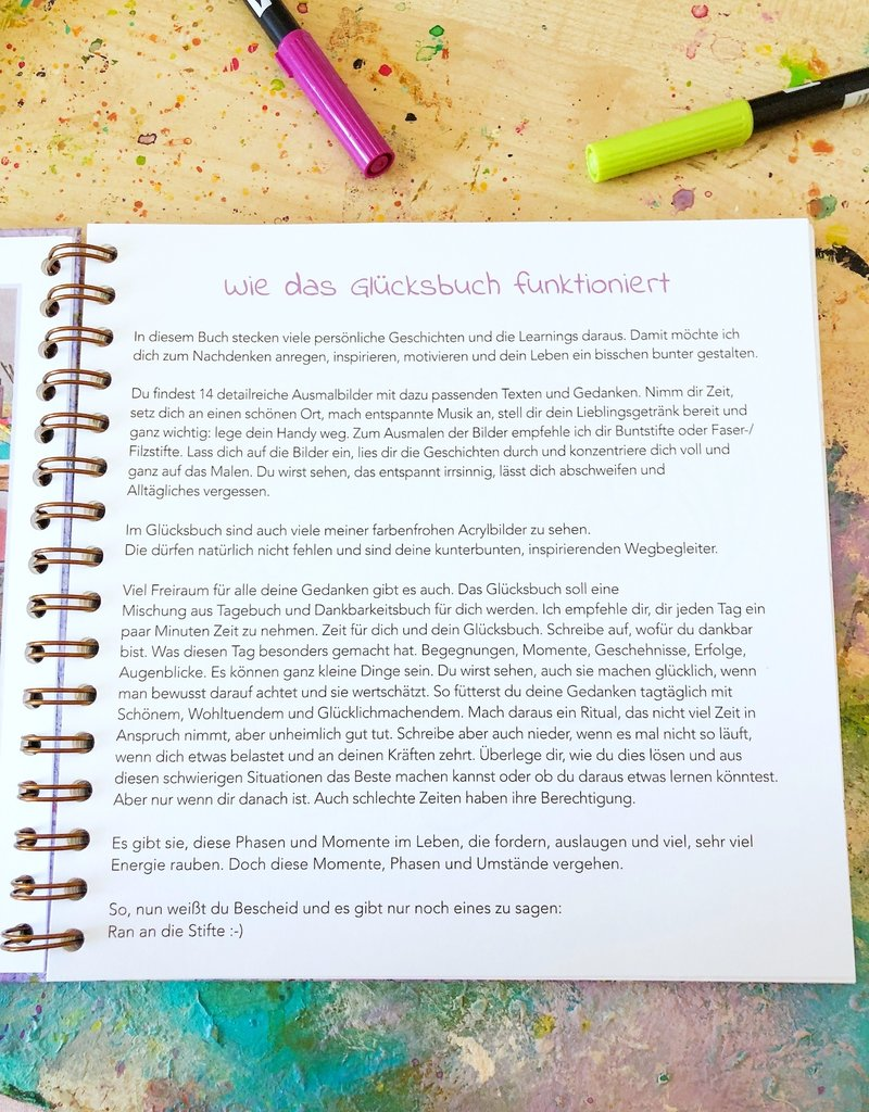 Das Rollin'Art Glücksbuch - Your diary for mindfulness, luck and gratitude