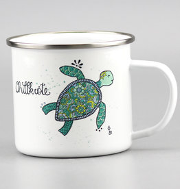 "Enamel Mug  big ""Chillkröte"""