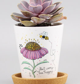 "Flowerpot ""Bee Happy"""