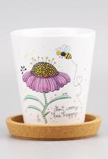 """Flowerpot """"Bee Happy"""""""