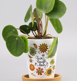 "Flowerpot ""Live-Laugh-Love 20"""
