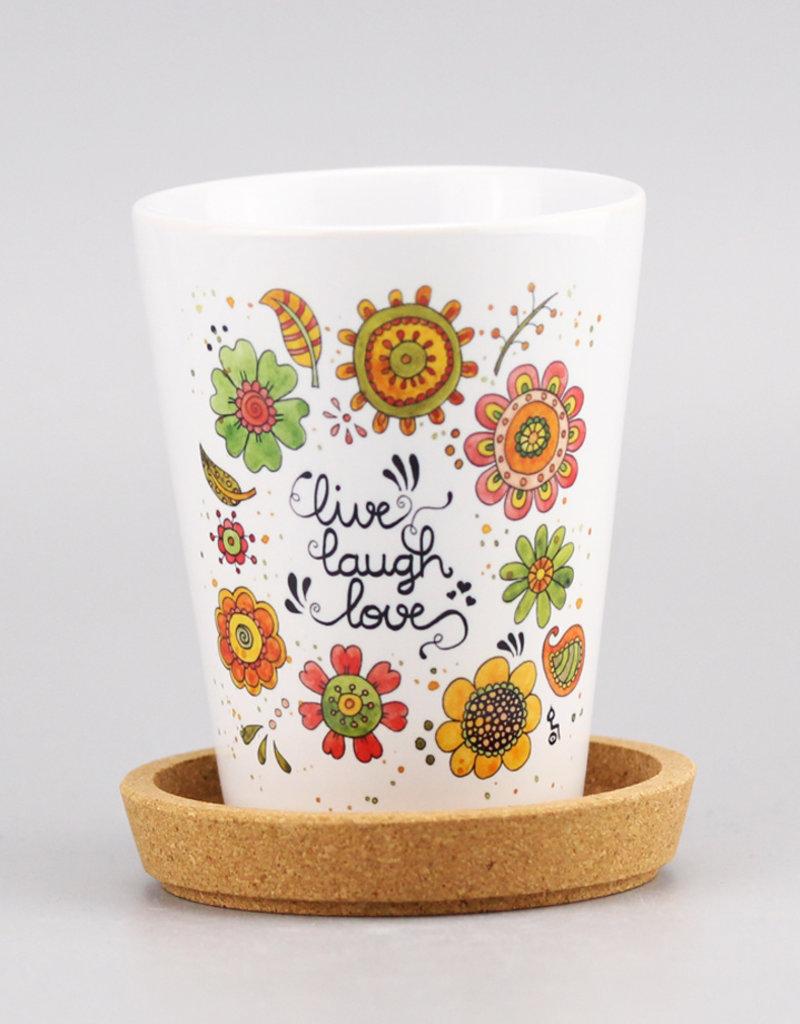 """Flowerpot """"Live-Laugh-Love 20"""""""