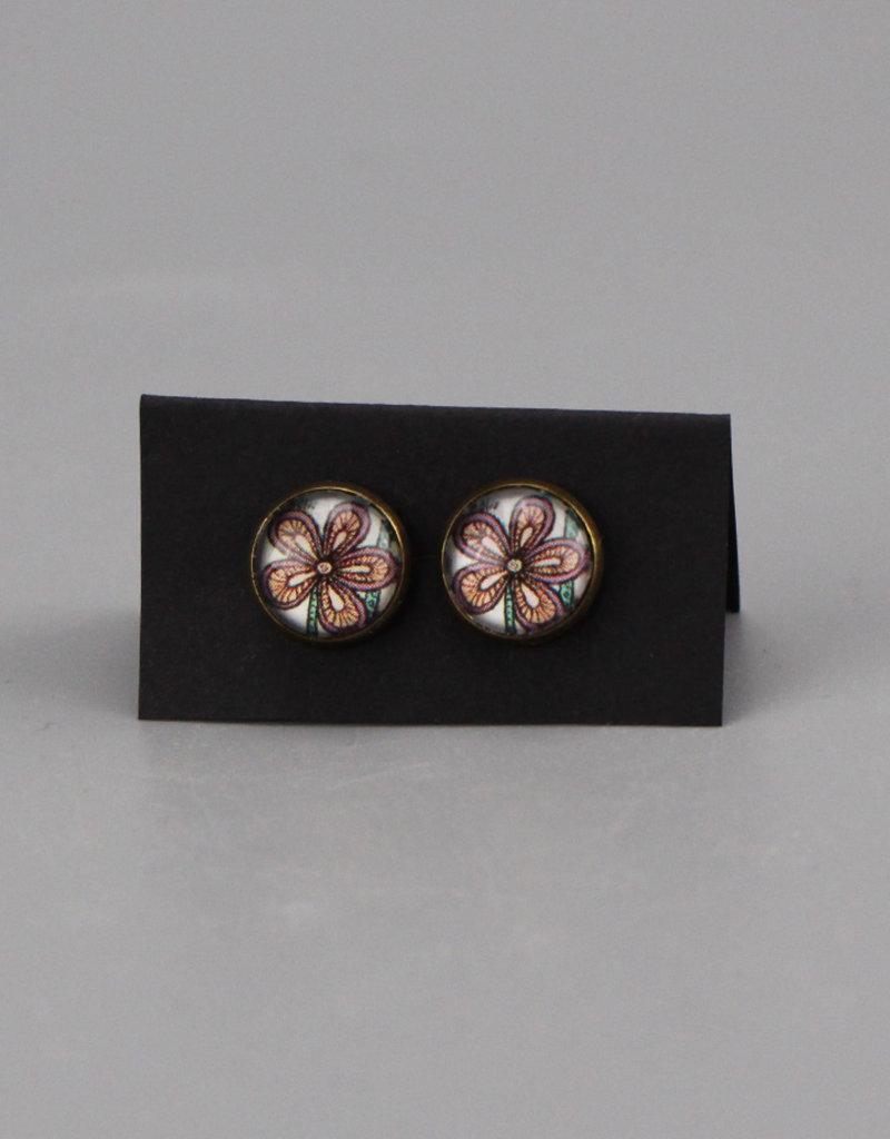 """Earrings """"Flowers Pantone I"""""""