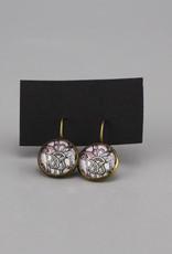 """Hanging earrings  """"Flowers Mehndi"""""""