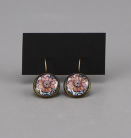 "Hanging earrings  ""Flowers Pantone"""