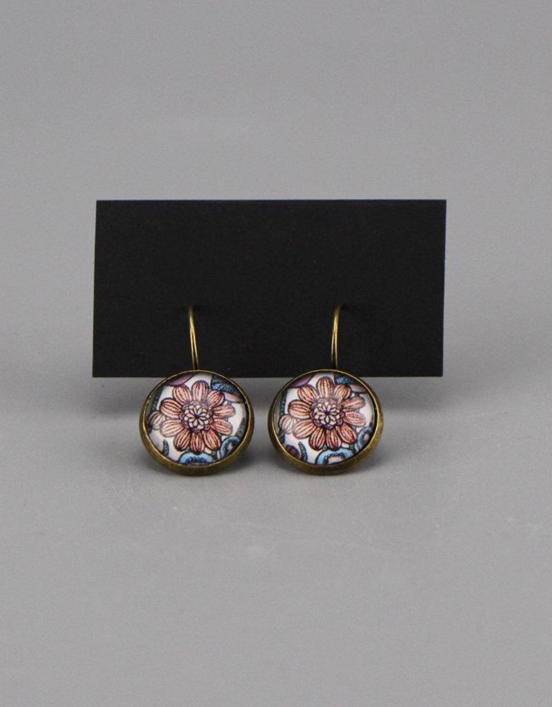 """Hanging earrings  """"Flowers Pantone"""""""