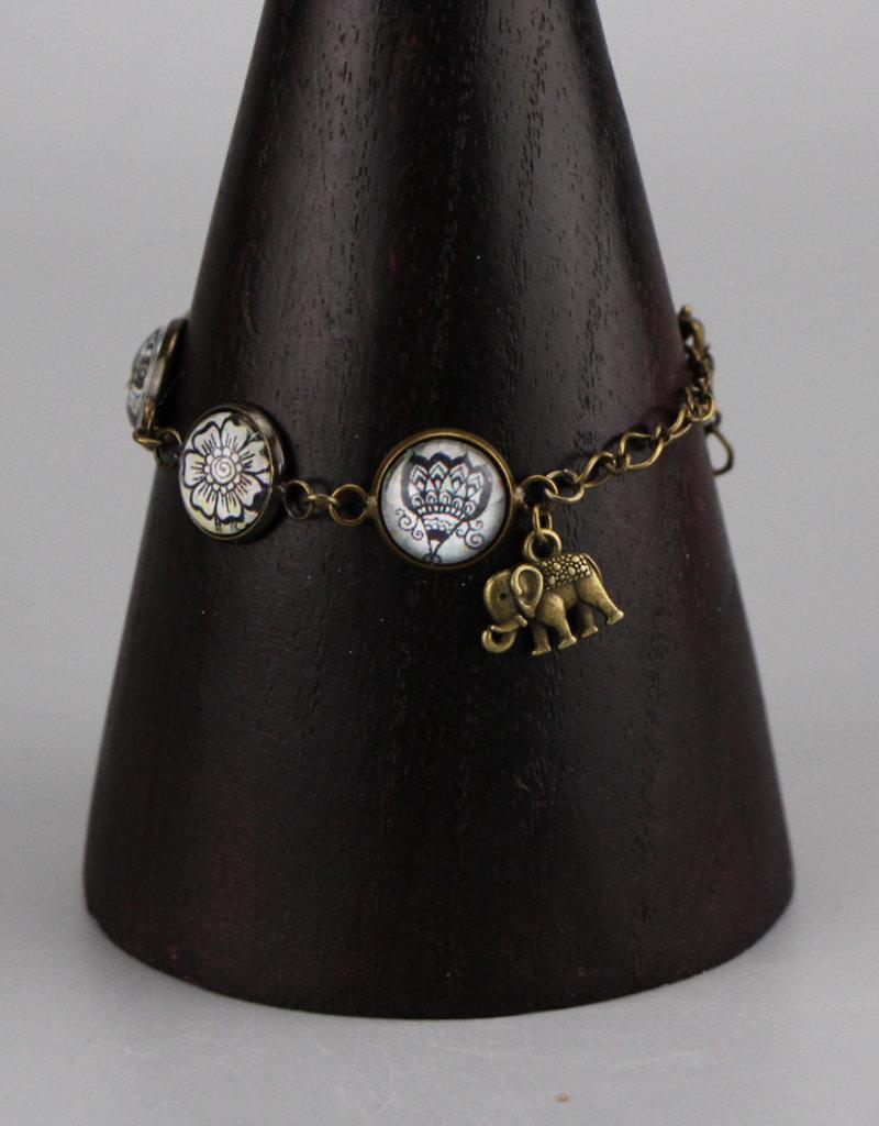 """Bracelet """"Flowers Mehndi"""""""