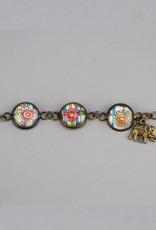 "Bracelet ""Flowers Mehndi""  - Copy"