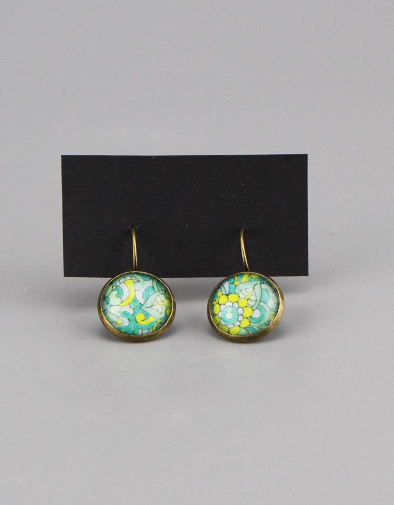 """Hanging earrings  """"Mehndi Chillkröte"""""""