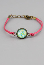 "Cotton bracelet ""Mehndi Chillkröte"" pink"