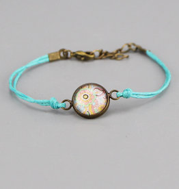 "Cotton bracelet ""Mehndi Pastell"" light blue"