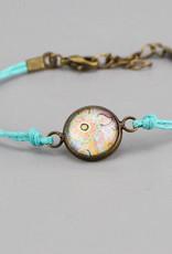 "Cotton bracelet ""Mehndi Pastell"" light blue"