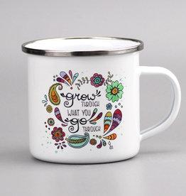 "Enamel mug ""Grow"""