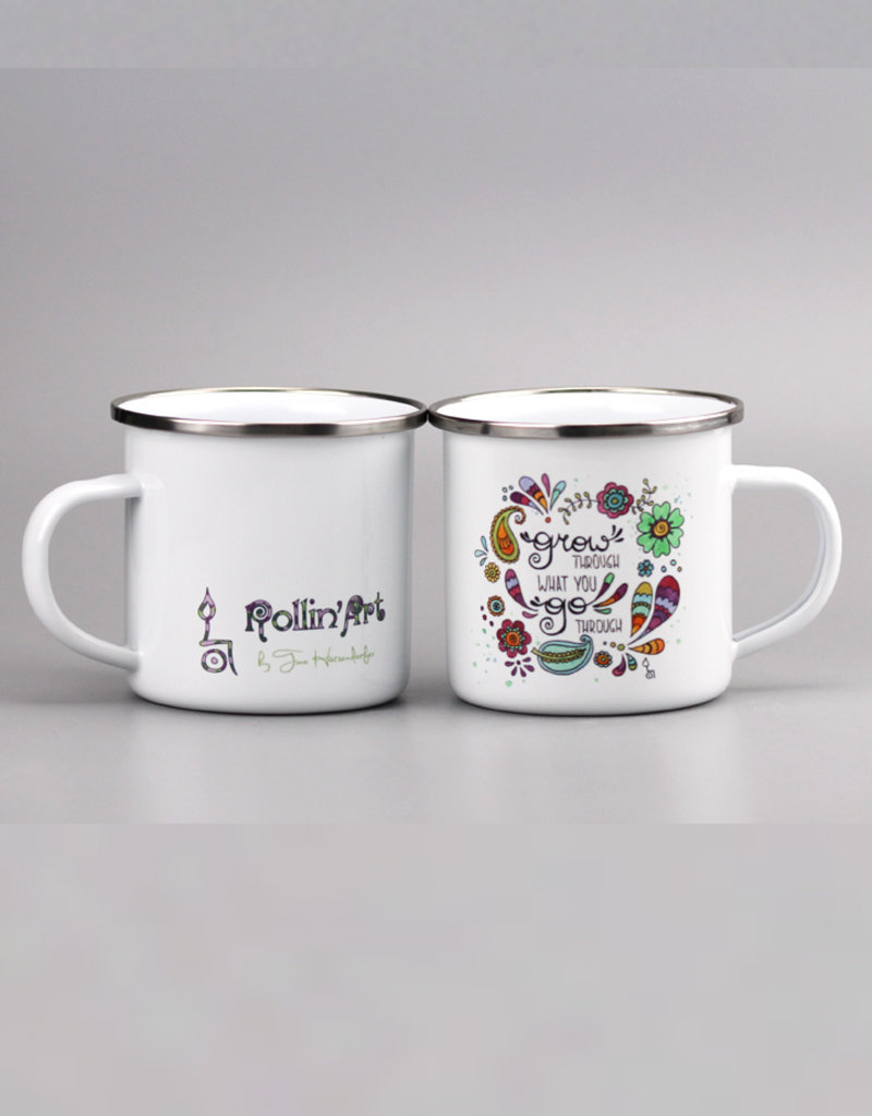 "Emaille Tasse ""Grow"""