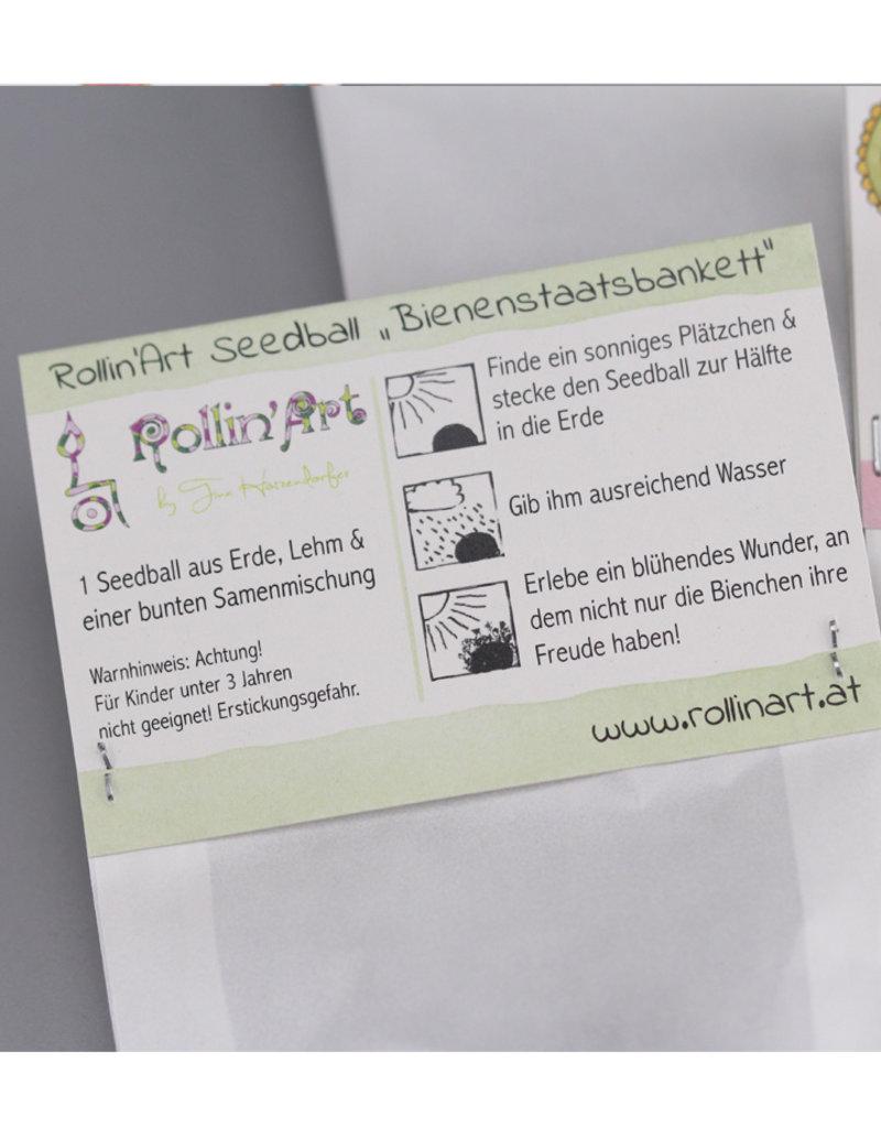 """Set of 3 seedballs """"Bienenstaatsbankett"""""""