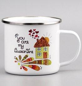 "Emaille Tasse groß ""QuaranTine"""