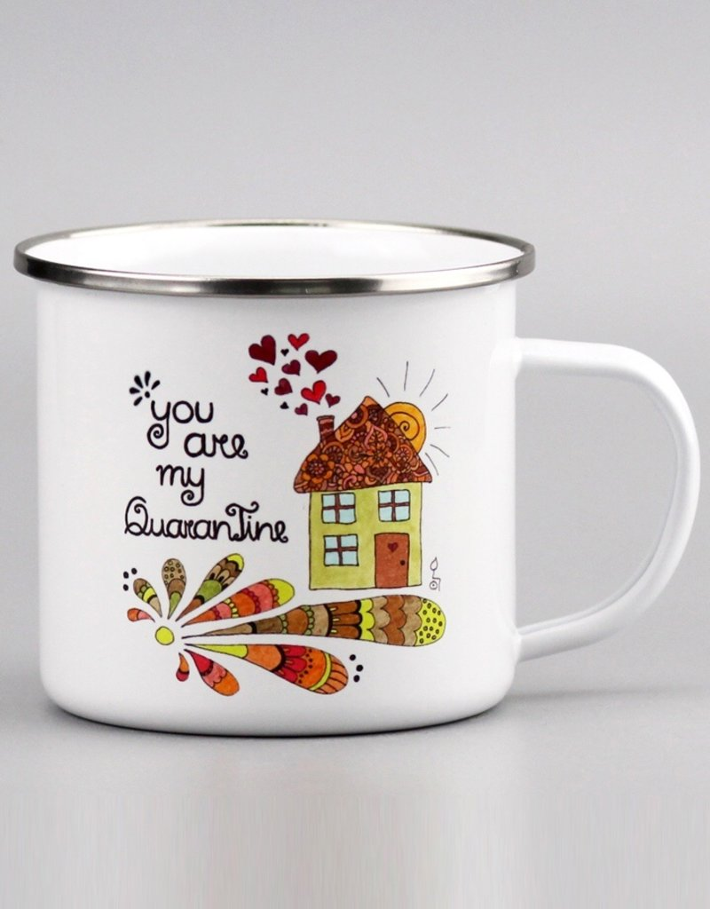 "Enamel Mug  big ""QuaranTine"""
