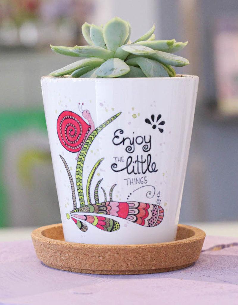"""Flowerpot """"Snail"""""""