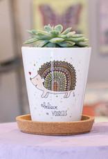 """Flowerpot """"Hedgehog"""""""