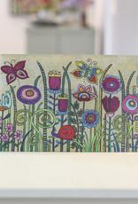 "Glass cutting board  ""Flowers V"""