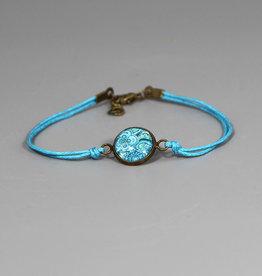 "Cotton bracelet ""Mehndi Muster blau"""